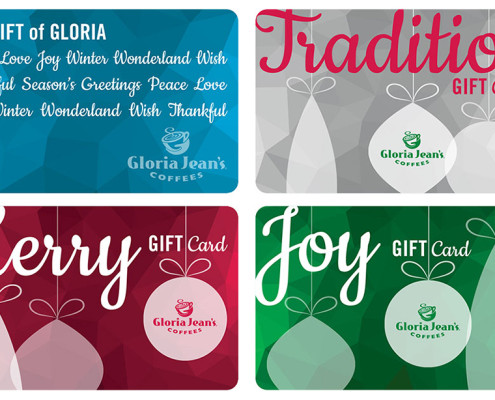 Gloria Jean's Coffees Holiday 2015 Gift Cards